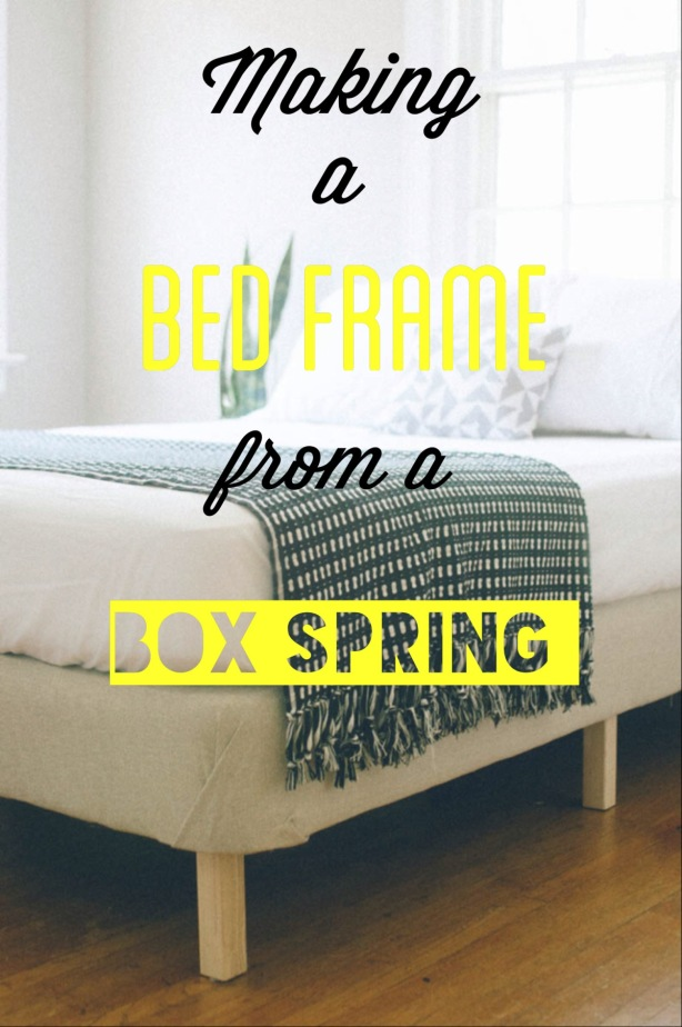 box spring bed frame diy